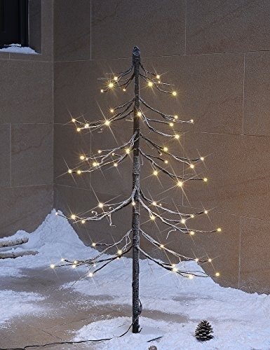 lightshare 3 feet 72l led fir snow treehomefestivalpartychristmasindoor and outdoor usewarm white - Wooden Christmas Tree