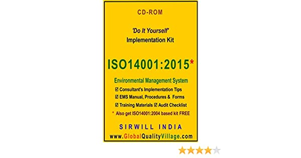 ISO 14001:2015 Implementation Kit (Manual, Procedures, Forms, etc )