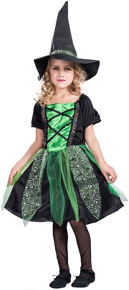 YANZZ Halloween Disfraz de Cosplay Infantil,Falda de Bruja Vestido ...