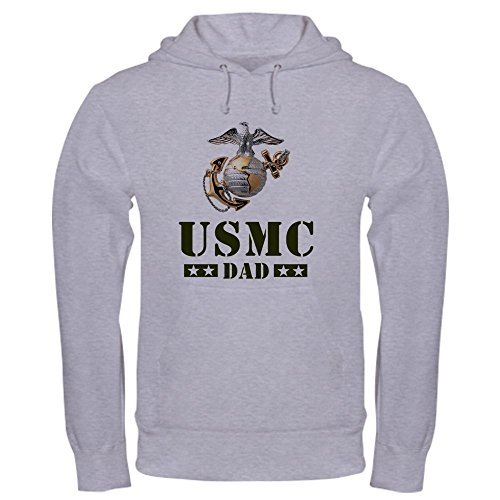 CafePress USMC Dad Sweatshirt - Pullover Hoodie, Classic & Comfortable Hooded Sweatshirt - Usmc Warm Up Jacket