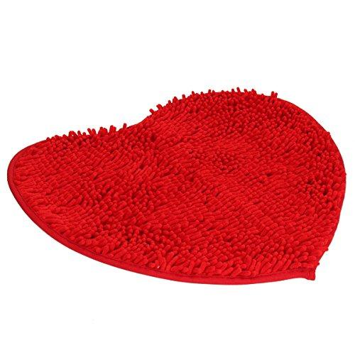 (Evaliana Fluffy Doormats Carpet Floor Rugs Heart Shape Decor Mat Bathroom Bedroom Kitchen)