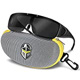 4913e16721 2 · BLUPOND KNIGHT VISOR Wrap Around Polarized Sunglasses for Men and Women  with Flip