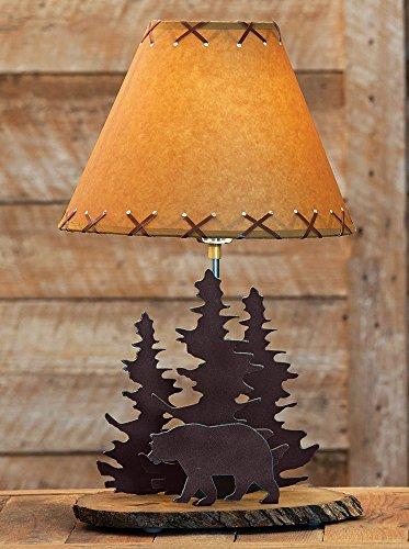 (Bear Rustic Metal Lamp)
