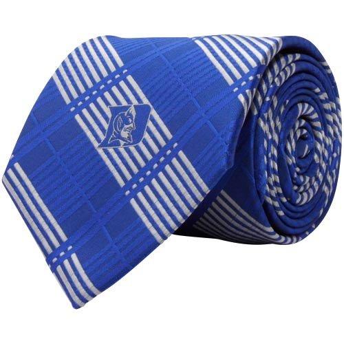 NCAA Duke Blue Devils Royal Blue-Silver Poly Plaid Woven (Royal Blue Collegiate Football)
