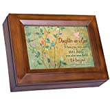 Cottage Garden Daughter-in-Law We Love You Wood Finish Jewelry Music Box - Plays Tune You Are My Sunshine