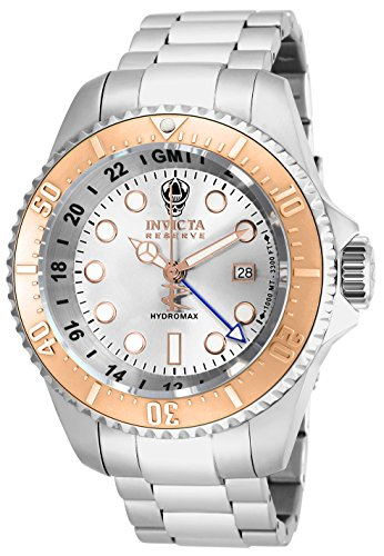 Invicta Men's 16964 Reserve Hydromax Analog-Display Swiss Quartz Silver-Tone - Swiss Rose Mens