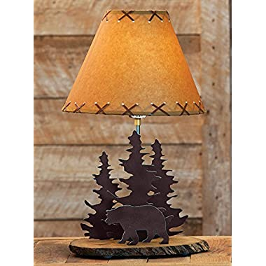 Bear Rustic Metal Lamp - Lodge Lighting