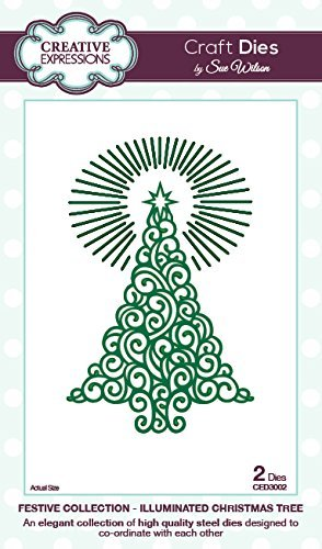Creative Expressions FESTIVE COLLECTION Illuminated Christmas Tree by CED3002 Sue Wilson CED3002 by by Sue Wilson c1e2c4