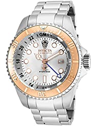 Invicta Mens 16964 Reserve Hydromax Analog-Display Swiss Quartz Silver-Tone Watch