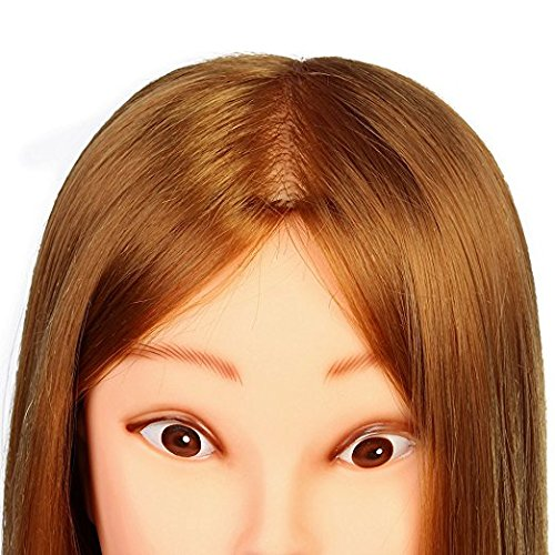 3-5 Days Delivery Neverland Beauty 26 Inch 30% Real Hair Hairdressing Cosmetology Training Head Mannequin Head Hairdresser Training Head w/Clamp For College and Professional Use #27 by Neverland Beauty & Health (Image #4)
