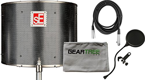sE Reflexion Filter Pro Portable Acoustic Treatment w/ Cleaning Cloth, Cable, and Pop Filter by SE Electronics