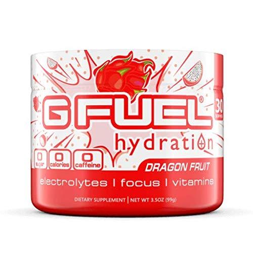 G Fuel Hydration Dragon Fruit Punch Tub (30 Servings) Elite Hydration Powder 3.5oz
