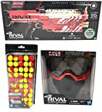 Nerf Rival Nemesis MXVII-10K, Face Mask, 50 Round Refill Pack Bundle (Red)