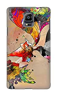 Galaxy Note 4 Ikey Case Cover Skin : Premium High Quality 3d Abstract Case(nice Choice For New Year's Day's Gift)