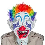 Hyaline&Dora Clown Mask with Colorful Hair Scary Clown Mask for Adults Kids Halloween Costume