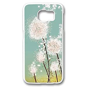 iCustomonline Beautiful Flower Turn to Star Plastic Hard PC White Case Fits Cover Back for Samsung galaxy S6 Kimberly Kurzendoerfer