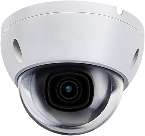 8MP Security POE IP Camera Outdoor, IPC-HDBW2831E-S-S2, Dome Network Camera with 125 Wide Angle, H.265 with IR Night Vision, Built-in Mic SD Slot, Onvif, IK67, IK10