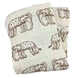 Bambino Land Double Layer Muslin Swaddling Blanket (Natural Elephant) Made from Organic Cotton Review