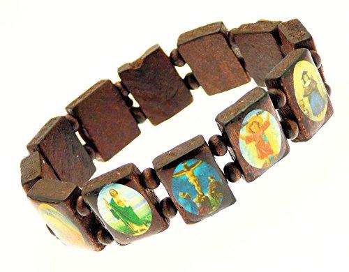 Elasticated Wooden Saints Bracelet Jesus product image