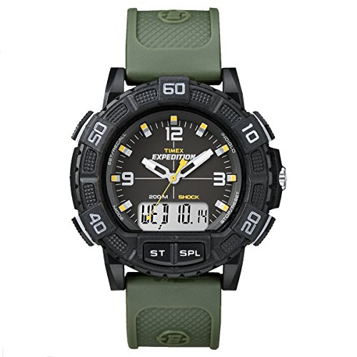 Timex Expedition Double Shock Watch, Black, One Size