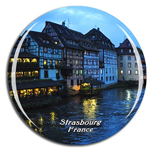 Weekino France Little France Strasbourg Fridge Magnet 3D Crystal Glass Tourist City Travel Souvenir Collection Gift Strong Refrigerator Sticker (Best Souvenirs From France)