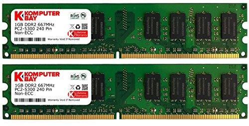 Komputerbay 2GB 2X 1GB DDR2 667MHz PC2-5300 PC2-5400 DDR2 667 (240 PIN) DIMM Desktop Memory