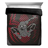 Marvel Spiderman Elite Full/Queen  Comforter - Super Soft Kids Reversible Bedding features Spiderman - Fade Resistant Polyester Microfiber Fill (Official Marvel Product)