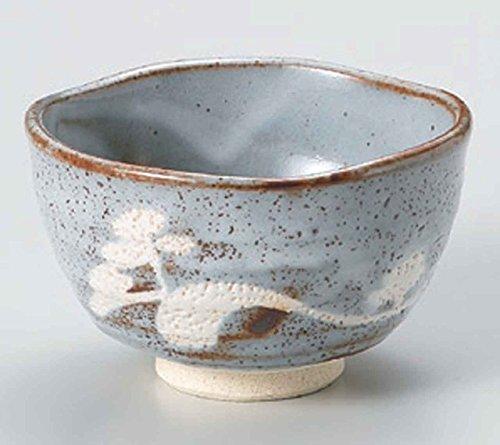 Grey Shino 5.1inch Set of 2 Matcha Bowls Ceramic Made in Japan