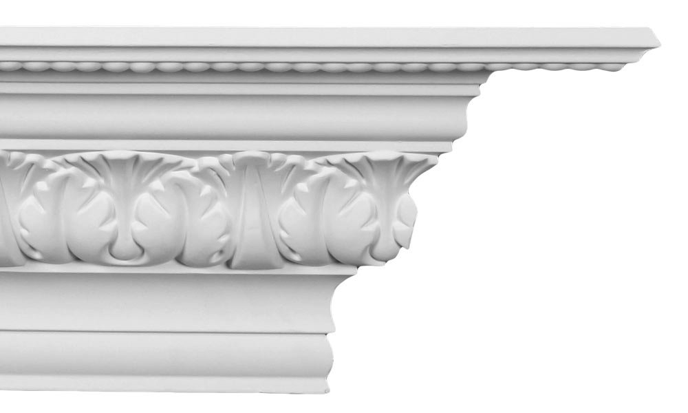 Crown Molding - Plastic Crown Moulding Manufactured with a Dense Architectural Polyurethane Compound. CM-1072 (3)