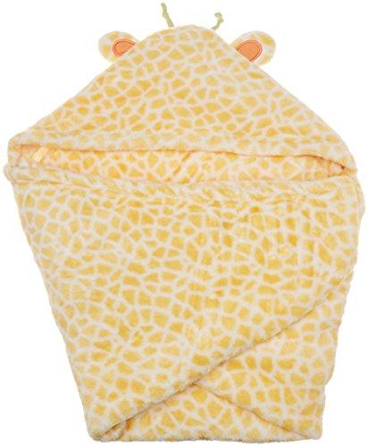 C.R. Gibson Little Fair Hooded Plush Blanket, By Baby Dumpling - Giraffe