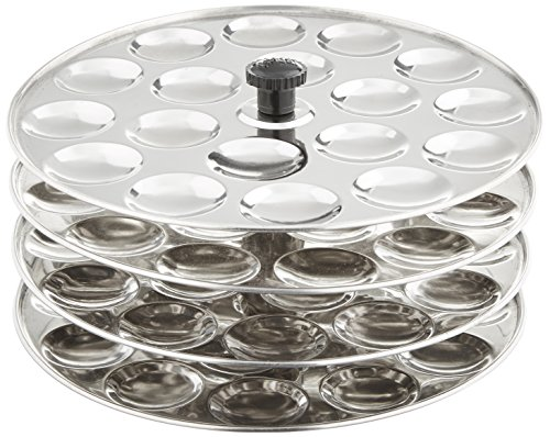Tabakh 4 Rack Stainless Steel Mini Idli Stand Makes 72