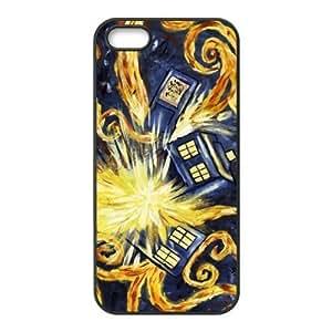 Case for iPhone 5s,Cover for iPhone 5s,Case for iPhone 5,Hard Case for iPhone 5s,Cover for iPhone 5,Tardis Design TPU Hard Case for Apple iPhone 5 5S