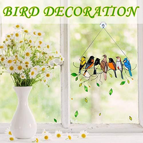 bestheart Bird Wall Decor,Birds Decorative Metal Wall Decor Sculpture Kitchen Home Indoor,Wall Decor with Birds,Wall Decor for Home Office Decorations (M)