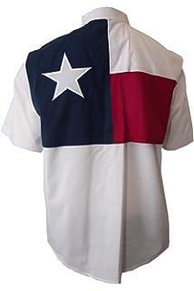 Long Sleeves Tiger Hill Texas Flag Fishing Shirt