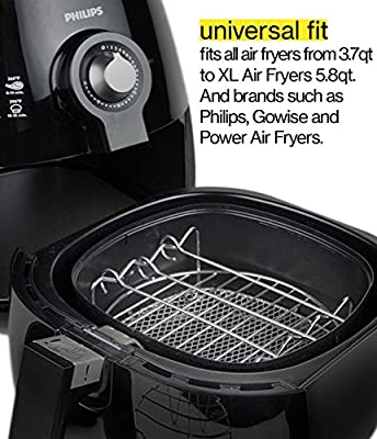 Air Fryer Accessories for Cosori Ninja and Philips, Set of 5, Fit all 3.7QT - 5.3QT - 5.8QT