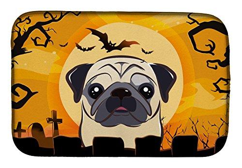 Caroline's Treasures BB1820DDM Halloween Fawn Pug Dish Drying Mat, 14'' x 21'', Multicolor by Caroline's Treasures
