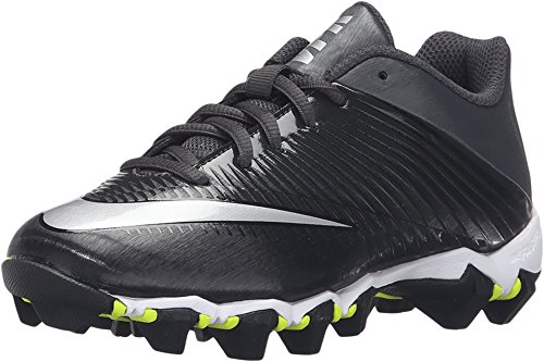 - Nike Boy's Vapor Shark 2.0 (GS) Football Cleat Black/Anthracite/Metallic Silver Size 2 M US
