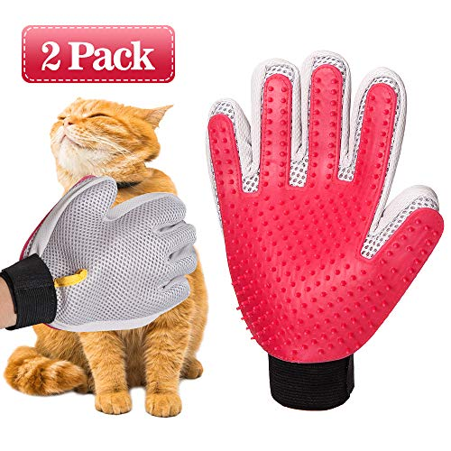 PPET Pet Grooming Glove, Gentle Pet Deshedding Glove, Cat and Dog Hair Brush, Hair Remover for Cat and Dog, Short and Long Fur Gloves