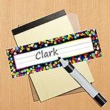 Desk Name Plate Confetti-Themed for School