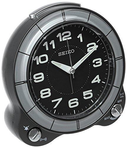 (Seiko QHK031KLH Bedside Alarm Japanese Quartz Alarm Clock)