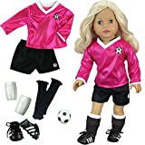 Best Team Outfit For Dolls - 18 inch Doll Clothes Outfit, Fuchsia Doll Soccer Review