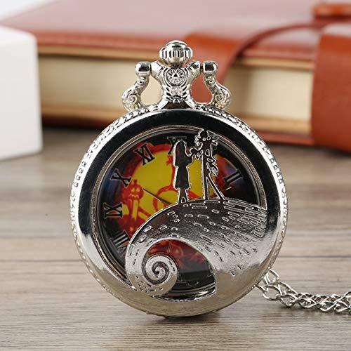 Amazon.com: CHITOP Retro Bronze The Nightmare Before Christmas Pocket Watch Chain Tim Burton Jack Skellington Pendant Gifts relojes de bolsillo: Cell Phones ...