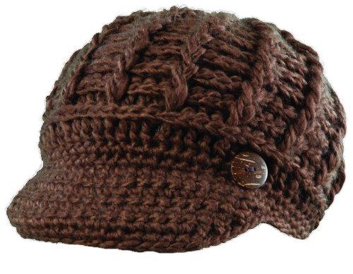 Radar Knit Hat (Scala Radar Knit Caps with Buttons (Chocolate))
