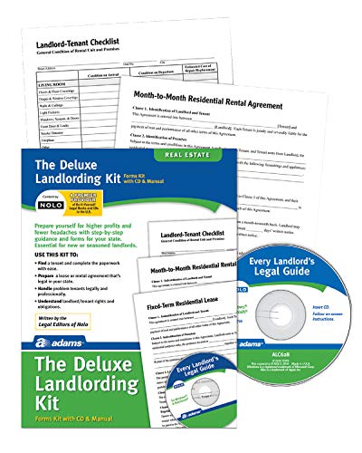 Adams Landlording Kit, Forms and Instructions, Includes CD (PK213)