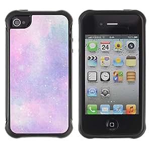 Suave TPU GEL Carcasa Funda Silicona Blando Estuche Caso de protección (para) Apple Iphone 4 / 4S / CECELL Phone case / / stars universe clouds purple pink cosmos /