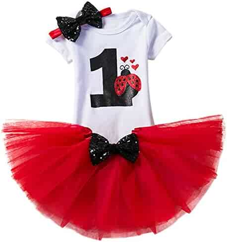 960322535d Baby Girl It's My 1st Birthday 3Pcs Outfits Skirt Set Romper+Tutu Dress+ Headband