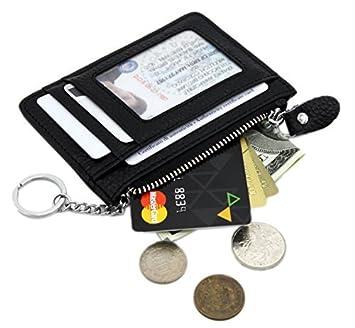 Amazon.com: Zhoma RFID Billetera de piel auténtica con ...