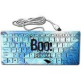 Boo Happy Halloween Free Printable Ultra-Slim 78 Keys Gaming Keyboard Can Apply Or Be Used Universally