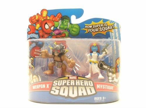 Marvel Superhero Squad Series 10 Mini 3 Inch Figure 2-Pack Weapon X and Mystique Hasbro