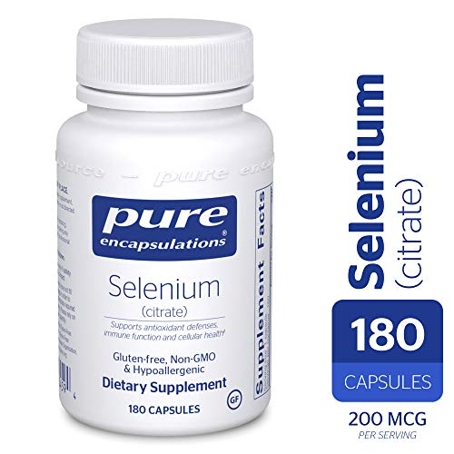 Pure Encapsulations - Selenium (Citrate) - Hypoallergenic Antioxidant Supplement for Immune System Support* - 180 Capsules